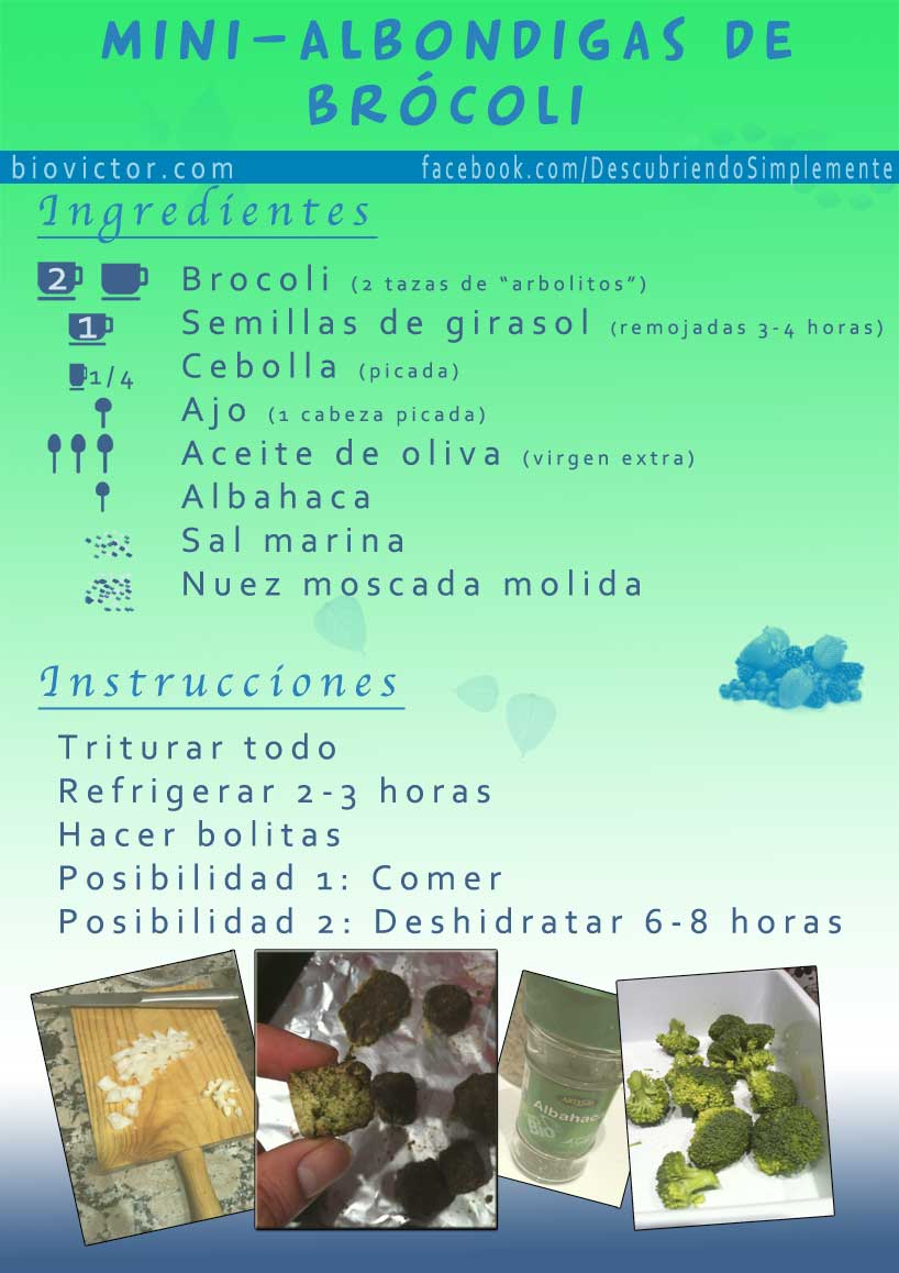 Receta mini-albondigas de brocoli