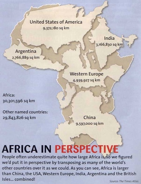 Mapa de Peters Africa