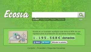 Ecosia, buscador ecologico