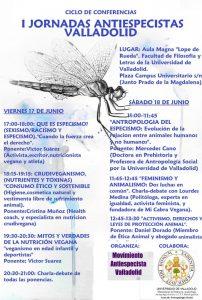 Cartel-Jornadas-Antiespecistas-Valladolid